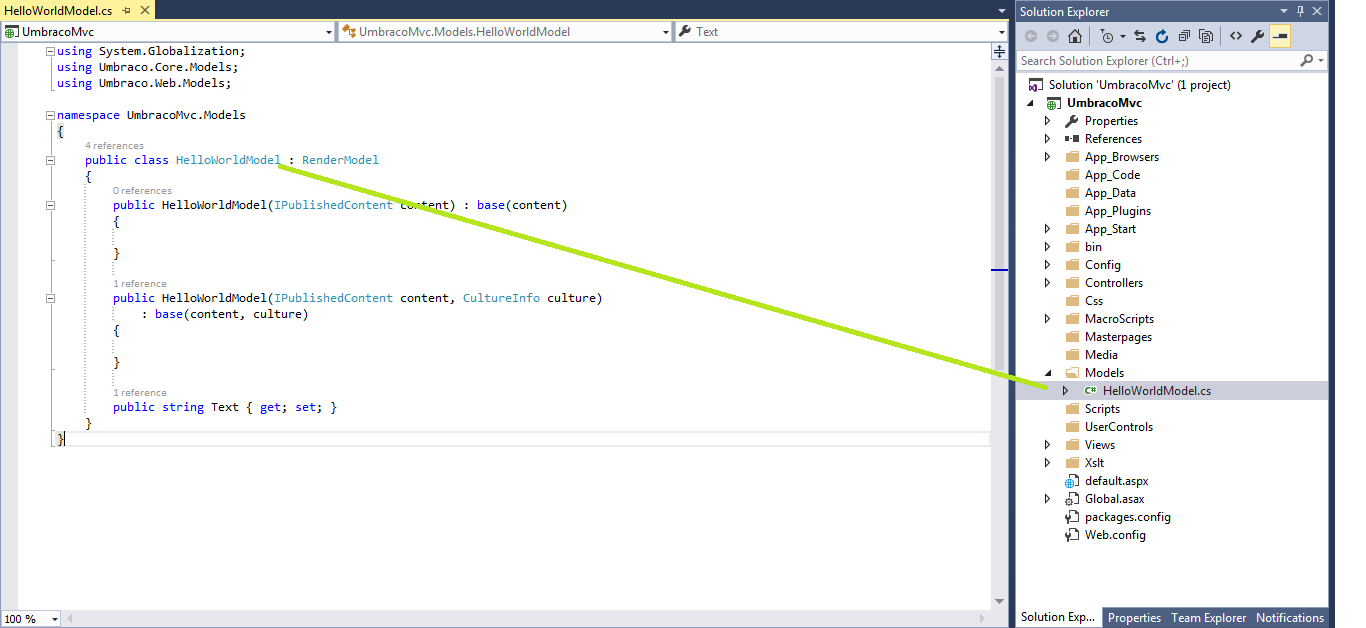 Model in Visual Studio